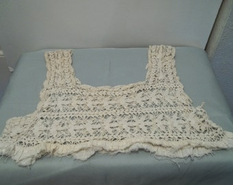 VIntage Crochet Lace Yoke