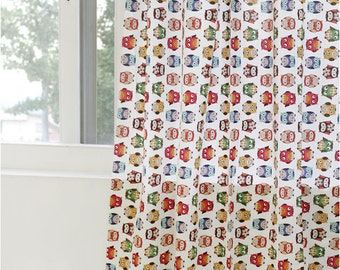 Owls Cotton Fabric Hoot - Natural - By the Yard 41798