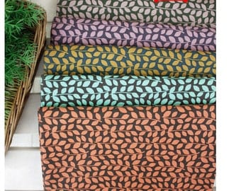 Leaf Vine Cotton Fabric - Choose From 5 Colors - By the Yard 47614
