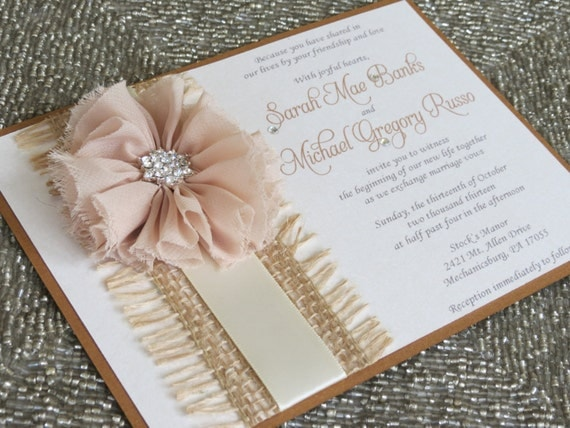 Country Rustic Wedding Invitations: ASHLEY Country Chic Rustic Fall Wedding By Peachykeenevents