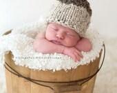Newborn Knit Acorn Hat