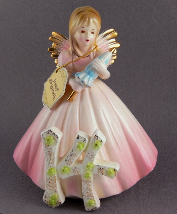 Vintage Josef Originals 14th Birthday Angel Figurine