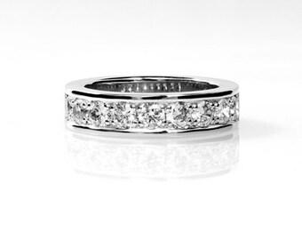 1.10ct , Diamond ring, Platinum, Platinum wedding band, Wedding band, Diamond wedding ring, unique, half eternity, platinum engagement