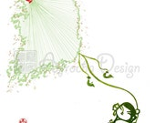"SOUTH KOREA, Seoul Custom Country Silhouette Map Art, String Kite Map - 8"" x 10"" Print"