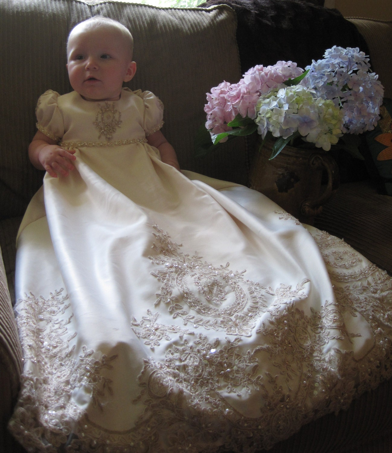 Christening Gowns From Wedding Dresses: Emma's Custom Christening Or Baptism Gown Made To Order