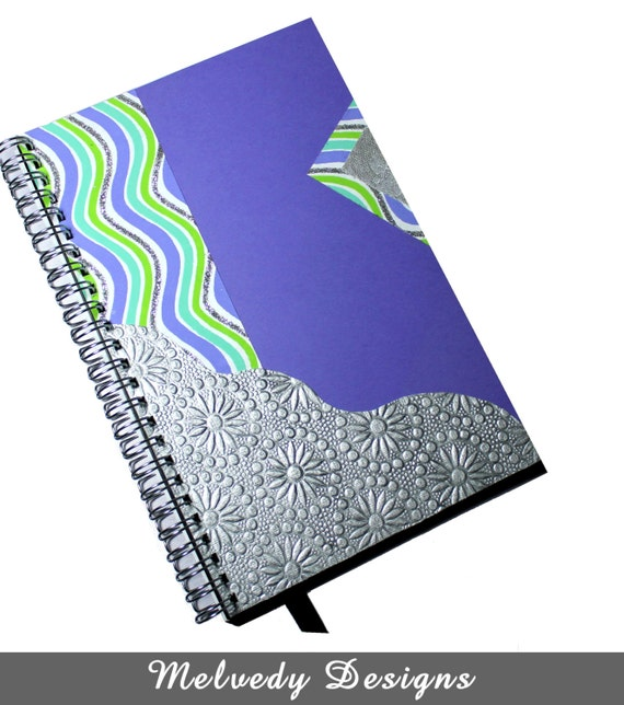 2013 2014 Colorful Day Planner with Purple and Silver Cover