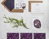 Irish Country Wedding - aubergine and natural kraft - JollyEdition