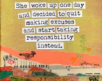 Inspirational Art Print:  Take Responsibility