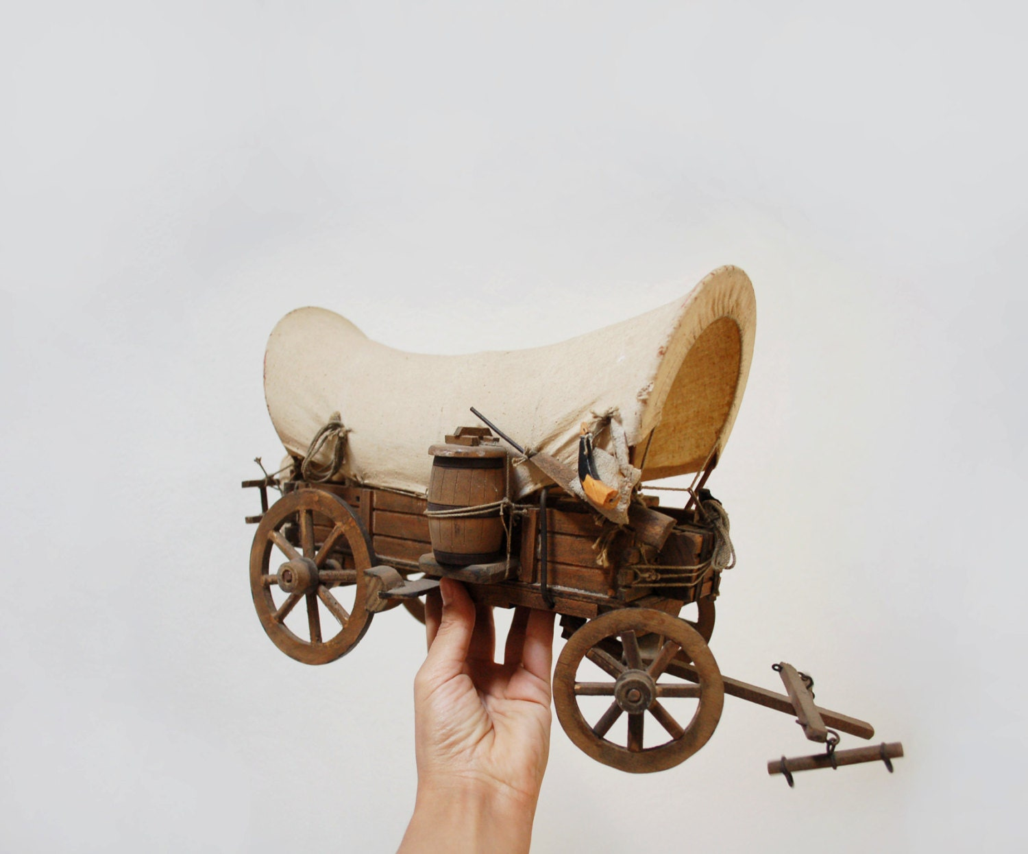 Antique 1900 Covered Wagon Model Old West Collectible