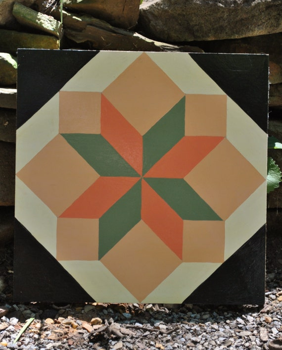 """... to Georgia Peaches - 12"""" x 12"""" Wooden Barn Quilt Square on Etsy"""