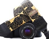 The Goldie Camera Strap with Quick Release Buckles -- 1.5 inches wide
