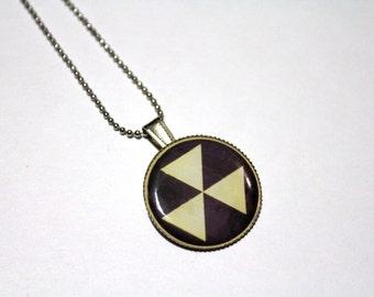 Fallout Shelter Symbol Necklace, Nuclear, Atom, Atomic, Radiation, Radioactive, Rad, Nuke, War, Goth, Punk, Emo, Safety, Biohazard, Bomb