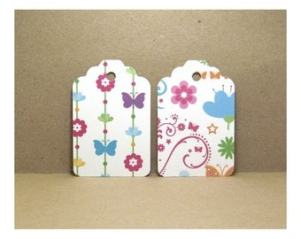 Wish Tree Tags,Favor Tags,Decorative Tags, Hang Tags, Wishing Tree Tags, Butterfly Tags, Flower Tags, Floral Tags, Butterfly Gift Tags