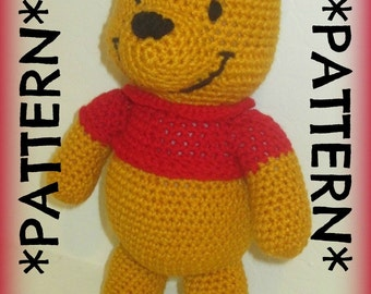 PATTERN ONLY - Crochet Winnie the Pooh