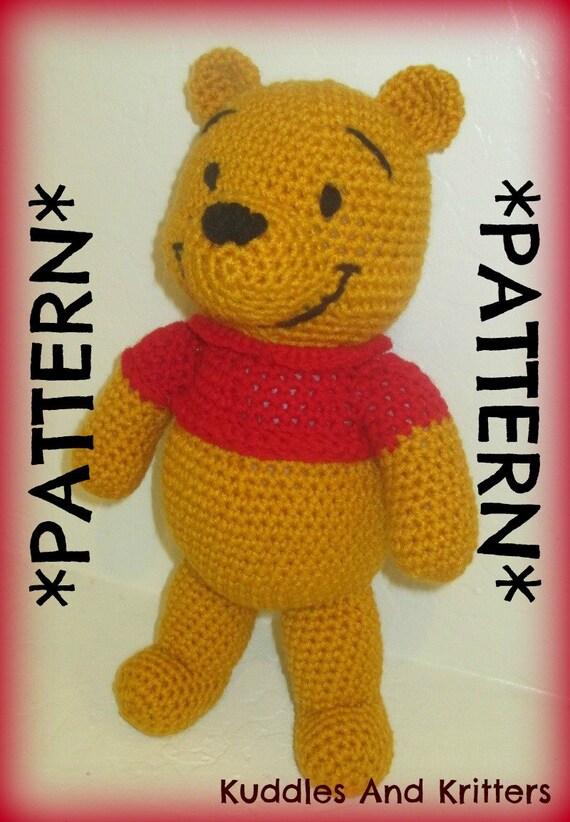 Winnie The Pooh And Friends Amigurumi : PATTERN ONLY Crochet Winnie the Pooh
