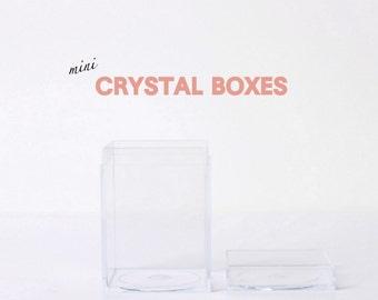 Mini Crystal Clear Acrylic Boxes