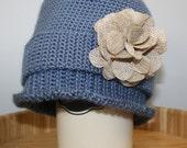 Frilly Ruffle Edge Crochet Hat PDF Pattern.  Teen / Adult Size. Sale - Buy 2 patterns, GET 1 FREE.