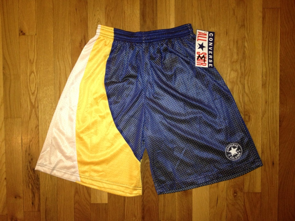 vintage converse basketball shorts fab 5 size by legitvintage