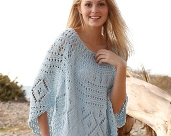 Knit Poncho, Lace Poncho, Lace Cover Up, Beach Cover Up Sizes S to XXXL