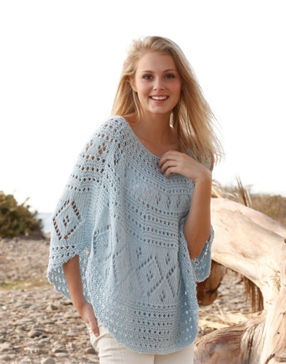 Knit Beach Cover Up Pattern : Knit Poncho Lace Poncho Lace Cover Up Beach Cover Up Sizes