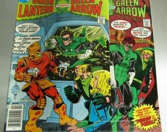 Vintage Green Lantern and Green Arrow Comic Book No. 103 or No. 104, April or May 1978, DC Comics, Vol. 16