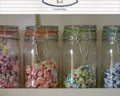 Fabric Buttons - An Assortment of 20 Handmade Fabric Buttons - Ready to ship by CrochetObjet