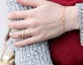 Gold Triangle Bracelet - Minimalist Jewelry
