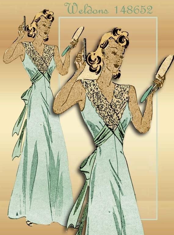 1940s Vintage Lingerie Pattern Weldons 148652 Stunning Elegant