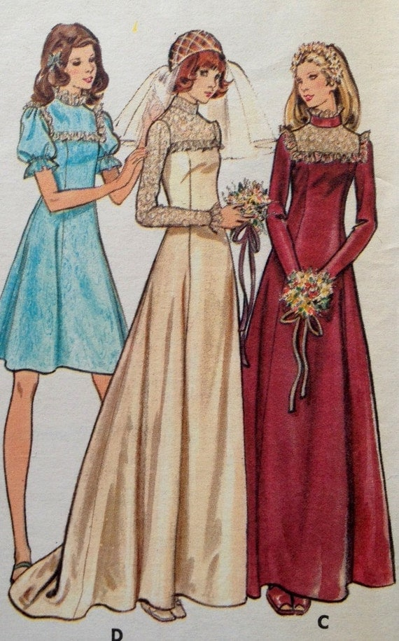 Vintage wedding dress pattern butterick 3164 by for Butterick wedding dress patterns