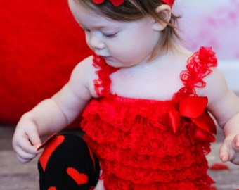 Red Baby Headband, Infant Headband, Newborn Headband - Red Headband  Frayed Chiffon and Lace Flower Headband