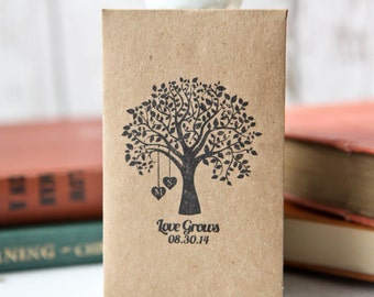 100 Customized Eco-Friendly Love Grows Wedding Seed Favor Envelopes