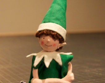 Sewing pattern for Christmas boy elf and girl elf