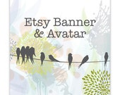 Birds and Texture Etsy Banner and Avatar