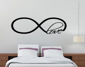 Infinity Love Symbol Wall Decal Decor Art Vinyl Quote