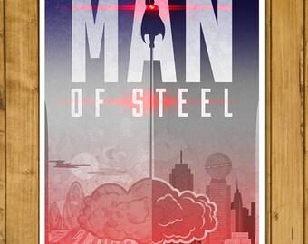 "Superman - Man of Steel Poster (11 x 17"")"