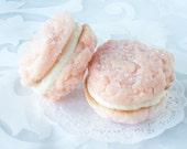 Sandwich cookie Pretty in Pink Pastel cookie Sandwiches Bridal Tea, Baby Shower