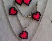 Jewelry set, girl, hama beads