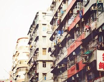 Hong Kong Street Scene,Nathan Road Hong Kong,Hong Kong Photography,Hong Kong Street Photo,Hong Kong Architecture,Hong Kong Wall Decor
