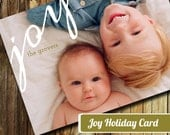 DIY Printable Holiday Cards - Joy