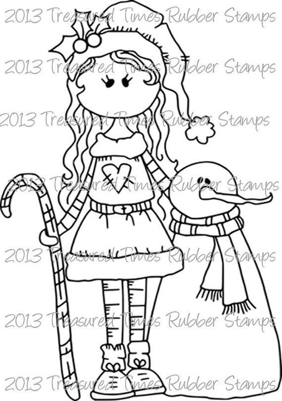 Suzie & Snowman Clear Stamp