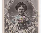 Original Vintage Postcard - Sent begin 1900s from Belgium - French writing - Bonne Fete