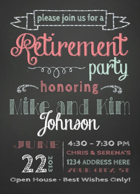 items similar to retirement party invitation on etsy