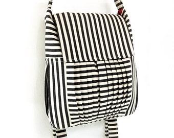 Striped Denim bag Canvas Bag Cotton bag Diaper bag Shoulder bag Hobo bag Tote bag Messenger bag Purse Backpack Women bag - Zinnia