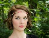 "Pink Sage ""Meadow Sunset"" Boho Headband"