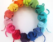 KNITTED Rainbow Mouse Pattern