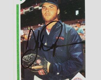 1990 Boston Red Sox John Dopson Autographed Baseball Card, Upper Deck 88, Vintage Card, MLB