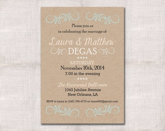Wedding Reception Celebration After Party Invitation Custom Printable 5x7