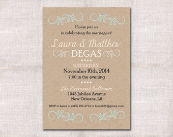 Wedding Reception Celebration Aft Er Party Invitation Custom
