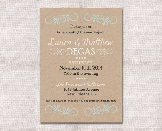 Invitation Wording For Wedding Reception: Items Similar To Wedding Reception, Celebration, After