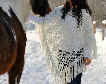 Butterfly Breeze Poncho Crochet Pattern pdf